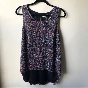 🆕 1 STATE Multicolored Sleeveless Blouse size M